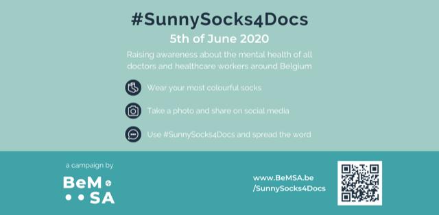 Doctors4Doctors D4D BeMSA nieuws steun Sunny Socks 4 Docs